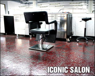 Iconic Salon Pure Metallic Floor Example