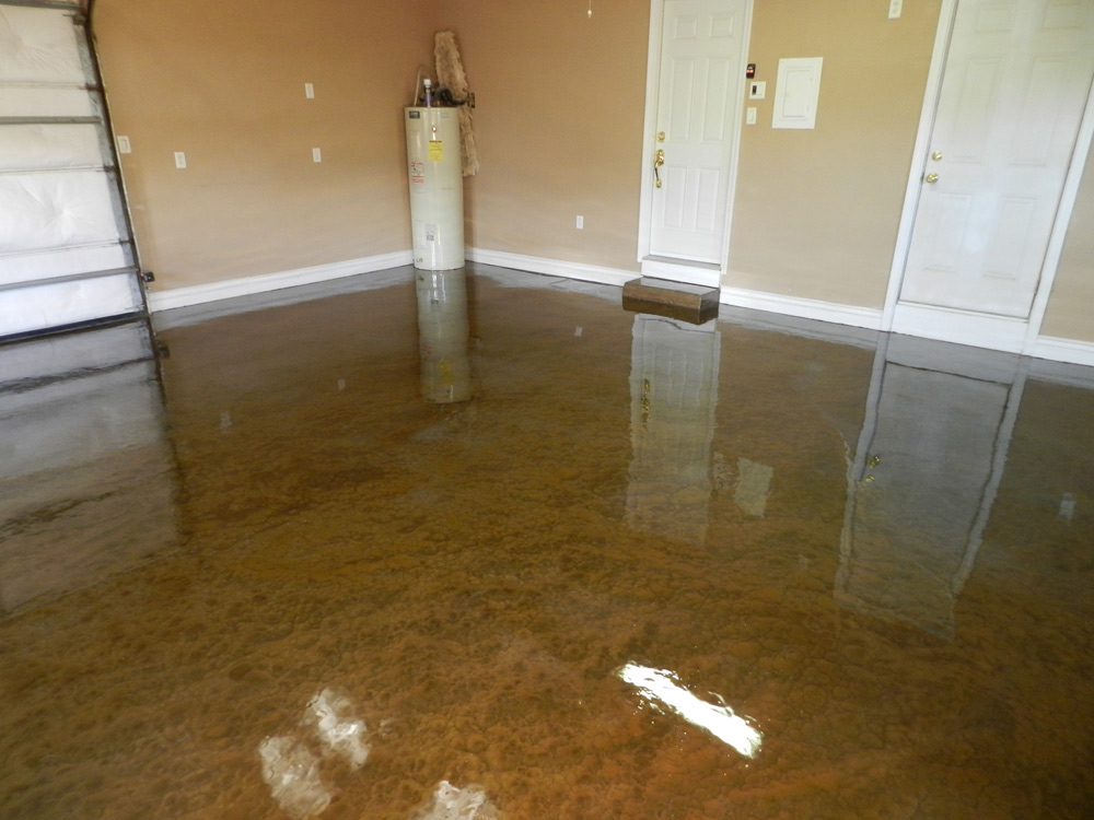 Epoxy Paint Effects : Pure metallic epoxy floor coating pictures